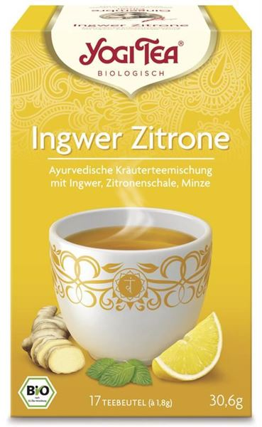 Picture of Ingwer-Zitrone Tee, Yogi Tea, 17Btl