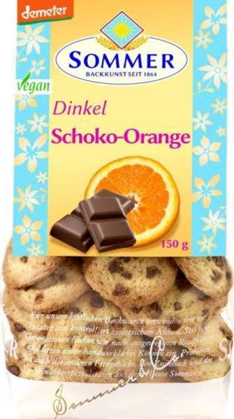 Picture of Dinkel Schoko-Orange Cookies, Sommer, 150g