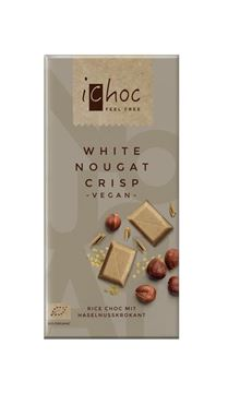 Picture of White Nougat Crisp, iChoc, 80g