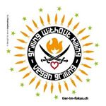 Picture of Sticker-Set: Grilling Without Killing (Bunt-Weiss), tier-im-fokus.ch, 10 Stück