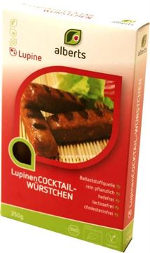 Picture of Lupinen Cocktailwürstchen, Alberts, 250g