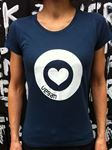 Picture of T-Shirt Gr. L, Love Vegan Damen Denim Blue, tier-im-fokus.ch