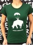 Picture of T-Shirt Gr. M, Animal Liberation Damen Grün, tier-im-fokus.ch