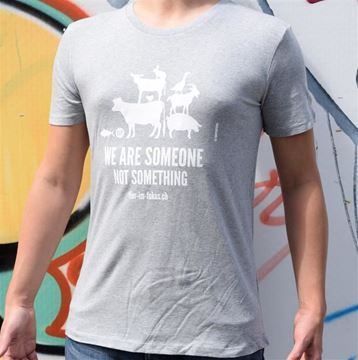 Bild von T-Shirt Gr. L, We Are Someone not Something Herren grau, tier-im-fokus.ch