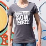 Bild von T-Shirt Gr. L, Animal Rights Damen Anthrazit, tier-im-fokus.ch