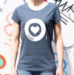 Picture of T-Shirt Gr. L Love Vegan Damen Blue, tier-im-fokus.ch