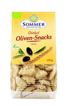 Picture of Dinkel Oliven-Snacks natur BIO, Sommer, 150g