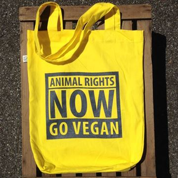 Picture of Tasche Animal Rights gelb, tier-im-fokus.ch, 1 Stück