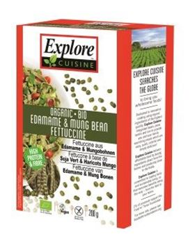 Picture of Edamame&Mung Bean Fettuccine BIO, Explore Asian, 200g