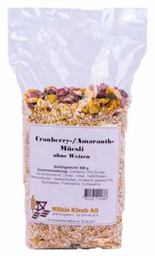Picture of Cranberry-Amaranth-Müesli, Mühle Kleeb, 500g