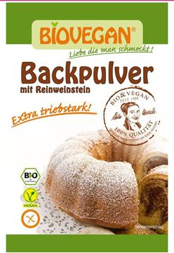 Picture of  Backpulver mit Reinweinstein BIO, biovegan, 4x17g