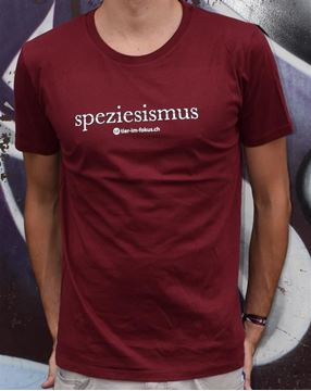 Picture of T-Shirt Gr. XL, Speziesismus Herren bordeaux, tier-im-fokus.ch, 1Stk.
