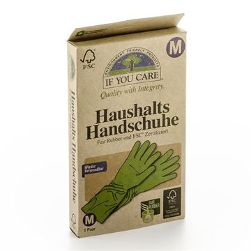 Picture of Haushalts-Handschuhe Gr. M, If you care, 1Paar