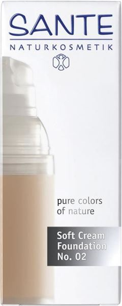 Bild von Soft Cream Foundation 02 Light, Sante, 30ml