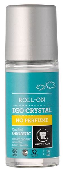 Bild von Deo Roll On Crystal No Perfume, Urtekram, 50ml
