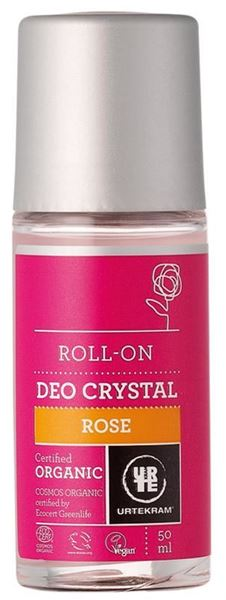 Picture of Deo Roll On Crystal Rose, Urtekram, 50ml