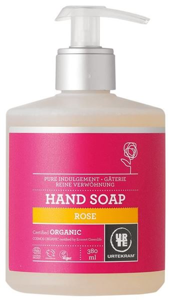 Picture of Flüssige Handseife Rose, Urtekram, 380ml