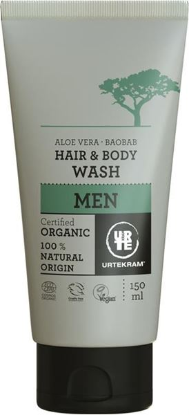 Bild von Men Baobab Hair and Body Wash, Urtekram, 150ml