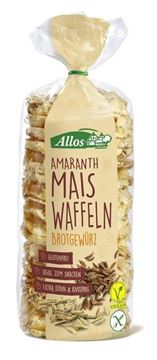 Picture of Amaranth Maiswaffeln Brotgewürz, Allos, 100g