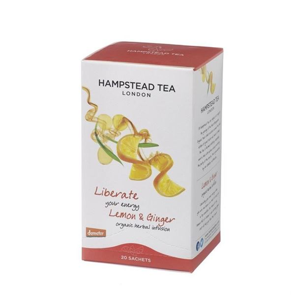Bild von Liberate your Energy, Zitrone & Ingwer, Hamstead Tea, 20Btl