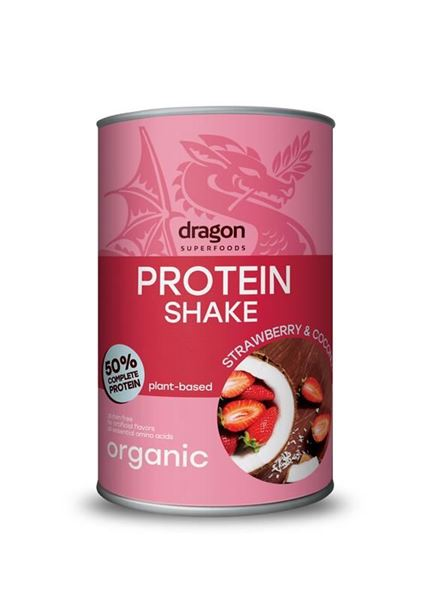 Bild von Protein Shake Strawberry&Coconut, Dragon Superfoods, 450g