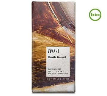 Picture of Dunkle Nougat, Vivani, 100g
