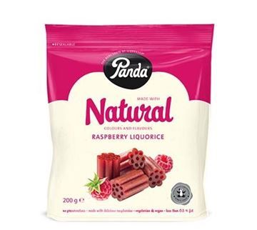 Picture of Panda Natural Cuts Raspberry Lakritz, 200g