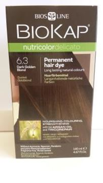 Picture of Nutricolor, Dunkles Goldblond, 6.3, Biokap, 140ml