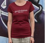 Picture of T-Shirt Gr. L, Speziesismus Damen bordeaux, tier-im-fokus