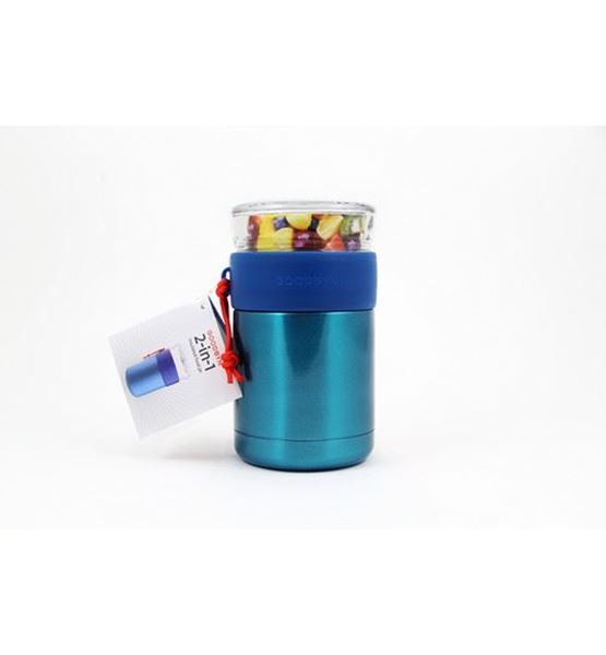 Picture of 2-in-1 food jar blue, Goodbyn, 1Stk.
