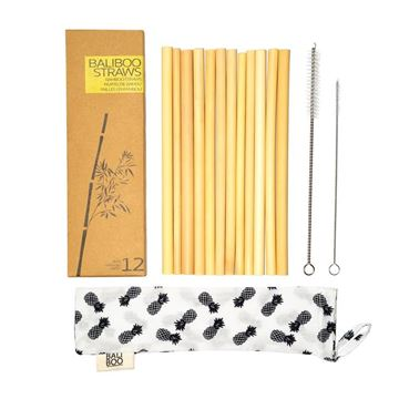 Picture of 100% Natural Bamboo  Strohhalme, Bali Boo, 12Stk.