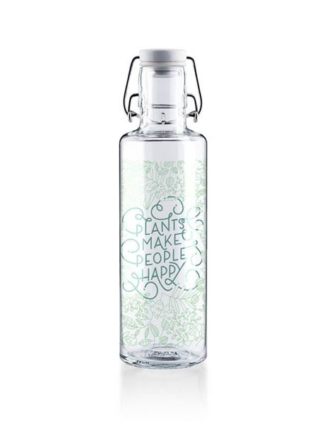 Picture of Flasche Plants make people happy, Soulbottles, 0.6l