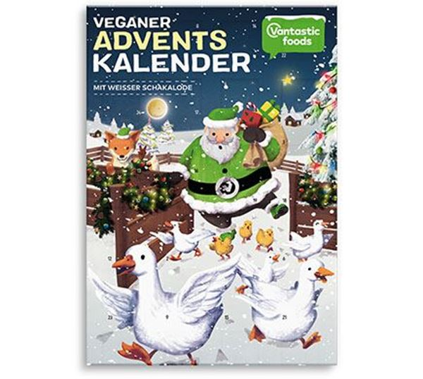 Picture of Adventskalender mit weisser Schakalode, Vantastic Foods, 100g