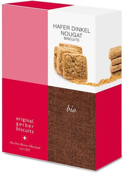 Picture of Hafer Dinkel Nougat Biscuits, Gerber, 160g