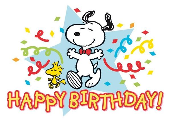 Picture of Happy birthday Snoopy, 1Stk.