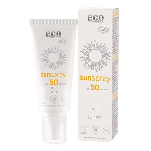 Picture of Sonnenspray LSF 50 getönt + Q10, Eco Cosmetics, 100ml