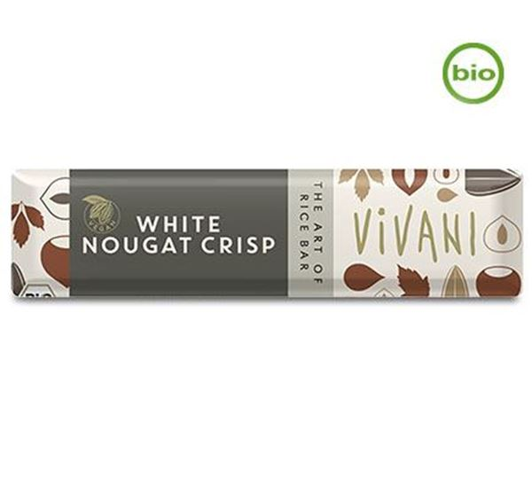 Picture of White Nougat Crisp Riegel, Vivani, 35g