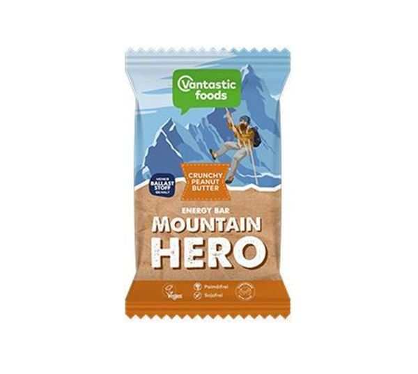 Bild von Mountain Hero Crunchy Peanut Butter, Vantastic foods, 65g