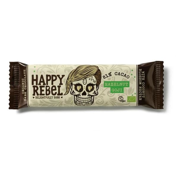 Picture of Haselnuss-Goji-Moringa Riegel , BIO, Happy Rebel, 38g