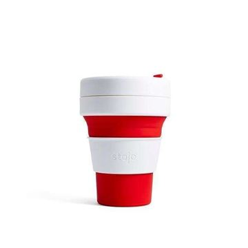 Bild von Collapsible Cup Red, Stojo, 3.5dl