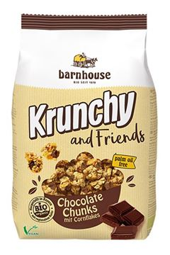 Bild von Krunchy and Friends Chocolate Chunk, barnhouse, 500g