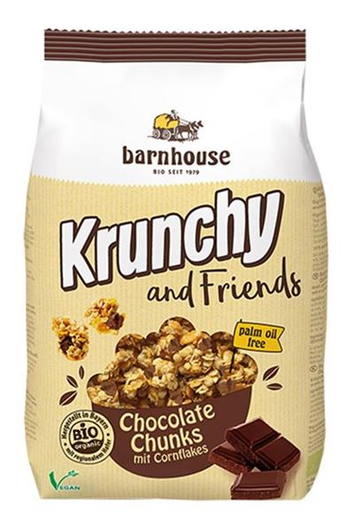 Picture of Krunchy and Friends Chocolate Chunk, barnhouse, 500g