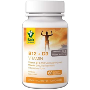 Picture of Vitamin B12 und D3, Raab Vitalfood, 60Stk.