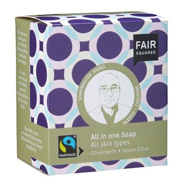 Bild von All-in-One Soap Olive, Fair Squared, 2x80g